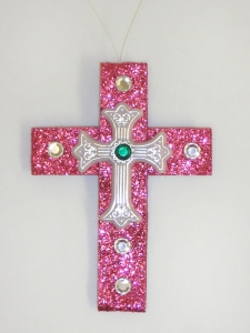Pink Cross Ornamnent