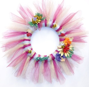 TULLE SPRING WREATH