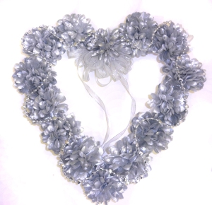 silver heart wreath